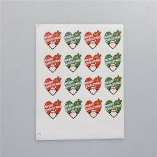 48pcs/6sheet Merry Christmas Badge Sticker Envelope Seal Wrapping Stickers YL