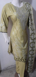 Sana Safinaz  Marina  embroidered Salwar Kameez  stitched 3pc suit Wool shawl