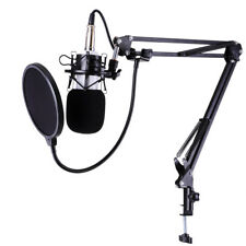Condenser Microphone Kit Studio Recording Pro Filter Boom Arm Stand Shock Mount