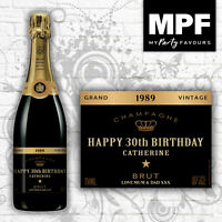 Personalised Novelty Champagne BRUT Bottle Label - Birthday/Anniversary/Any Gift