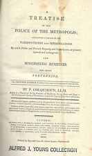 VERY RARE 1806 LONDON POLICE CRIMES AND MISDEMEANORS CRIME PREVENTION COLQUHOUN