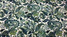 "MILL CREEK VALBELLA TEAL BLUE GREEN FLORAL OUTDOOR INDOOR FABRIC BY YARD 54""W"