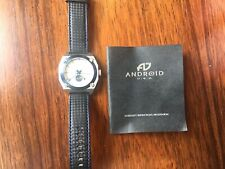 Android Watch AD 485 Moon Face Men's Silver Dial, Black Band