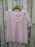Rebecca Taylor Pink Strapped Blouse Size: UK: M / Was Selling At NET-A-PORTER