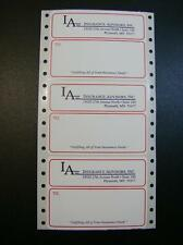 "Printed Mailing Labels, 5000 Custom Business Shipping Stickers, 1 color, 4"" x 3"""