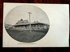 D&H Train RR STATION CARBONDALE PA Pennsylvania Vintage Postcard great photo US