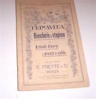 Moda Catalogo Frette - Primavera Biancherie di stagione e articoli diversi 1913