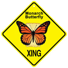 "Monarch Butterfly Metal Xing crossing sign 8"" square or 11 x 11 diamond"