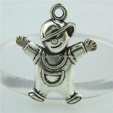 14930 35PCS Alloy Antique Silver Vintage Cute Baby Boy Pendant Charm Jewelry