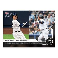2020 Topps Now Card 49 Aaron Judge Alex Rodriguez New York Yankees HR 5 Straight