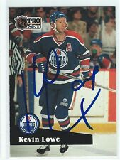 Kevin Lowe Signed 1991/92 Pro Set Card #76