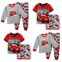 Kid Boy McQueen T-shirt Trouser Sleepwear Outfit Cartoon Shirt Pant Pajamas Set