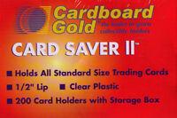 CBG 600 ct Card Saver II 2 Semi Rigid Sports Card Holder Cardboard Gold