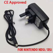 New 3 Pin UK Mains Charger Adapter Wall Plug For Nintendo DSi NDSi DSiXL XL DS i