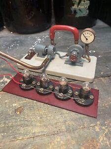Live Steam Model Steam Turbine And Electrics Setup - Possibly Stuart - Working