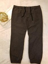 Mossimo Mens Joggers Pants Gray Felt Feel Drawstring Waist Size XL