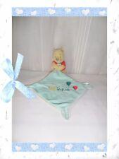 F - Doudou Semi Plat Losange Winnie Jaune Bleu Gris Rouge Ballons Disney Nicotoy