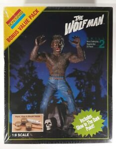 Monogram The Wolfman 1/8 Model Kit # 6379 Bonus Value Pack 1994 Factory Sealed