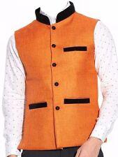 Indian Designer Waist Coat Party Wear Modi Nehru Koti Eid Linen Kurta Jacket