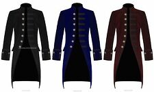 Men's Velvet PENTAGRAMME FROCK COAT Gothic Victorian Jacket Steampunk