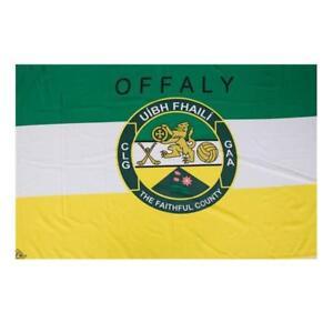 Offaly GAA Official 5 x 3 FT Flag - Crested Irish Gaelic Football Hurling