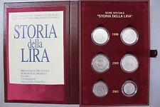 ITALIA STORIA DELLA LIRA ITALIANA FDC cofanetto + 6 monete argento FIOR DI CONIO