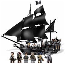Jack sparrow Black Pearl Ship Lego type Pirate Caribbean building blocks gift