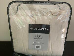 Madison Park Juliet 3-Piece Cotton Ruffle Skirt KING Bedspread Set in Ivory
