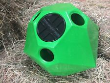 Hay Dome/ Horse Hay Feeder & largest Treat Ball - Green Sparkle Horse