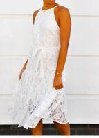 WHITE LACE Midi dress    john zack  size  12