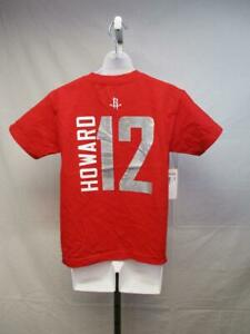 Houston Rockets 12 Dwight Howard Youth Size 14/16 Large L Majestic Red Shirt $22