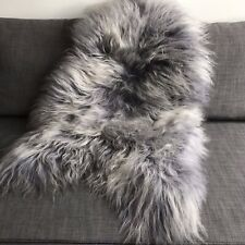 X-Large Icelandic Cool Grey Sheepskin Rug 100% Natural Sheep Skin 120cm RRP £120