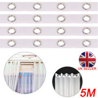 5M Eyelet Curtain Tape Curtains Liner Accessories Sewing Header 40 Rings Silver