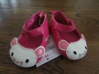 GYMBOREE GIRL'S 01 PINK MOUSE SHOES EASTER NWT 3 6