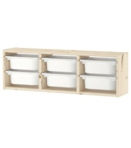 Ikea TROFAST  Wall Toys Small Things Storage Unit With Storage Boxes, Pine Color
