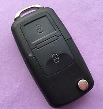 VW Sharan Touran Tiguan Jetta Toureg 2 Button Flip Remote Key Fob Case HAA Blade