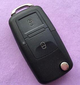 VW Sharan Touran Tiguan Jetta Toureg 2 Button Flip Remote Key Fob Case HAA Blade