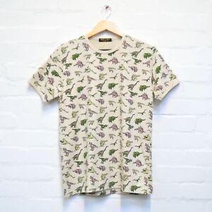 Dinosaur Print T Shirt By Run And Fly S/M/L/XL/XXL Stone Men Women BNWT/NEW