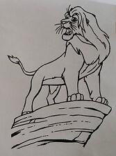 sticker roi lion mufasa sur le rocher