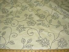 """~BTY~MODERN """"FLOWERS"""" EMBROIDERED UPHOLSTERY DRAPERY FABRIC FOR LESS~"""
