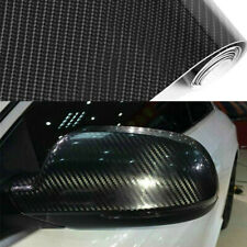 New 5D Ultra Gloss Glossy Black Carbon Fiber Wrap Sticker Decal 12x60""