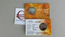 coin card 2 euro 2018 LETTONIA 100 Stati Baltici Lettonie Lettland Latvia Латвия