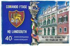 C3915) VERONA, NATO, COMANDO FTASE HQ LANDSOUTH, 40 ANNIVERSARIO 1991.