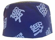Blue Chinese Letters Mesh Top Chef Hat- Adjustable. One Size Fit Most.