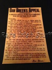 Dan Breen 1922 Ireland - IRA Irish Civil War Appeal To Free State - Print