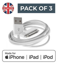Charging Cable Charger Lead for Apple iPhone iPod iPad - Pack of 3