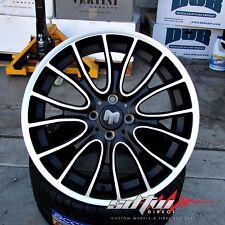"17"" Wheels Matte Black Machined Finish Fits Mini Cooper S Rims 4x100"