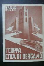 More details for 1935 bergamo italian motor racing  official poster postcard