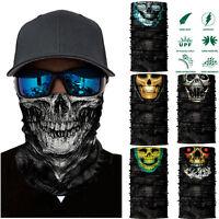 Skull Cycling Motorcycle Head Scarf Neck Warmer Face Mask Ski Balaclava band new