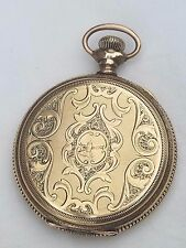 ANTIQUE ELGIN 14K GF HUNTER CASE POCKET WATCH.